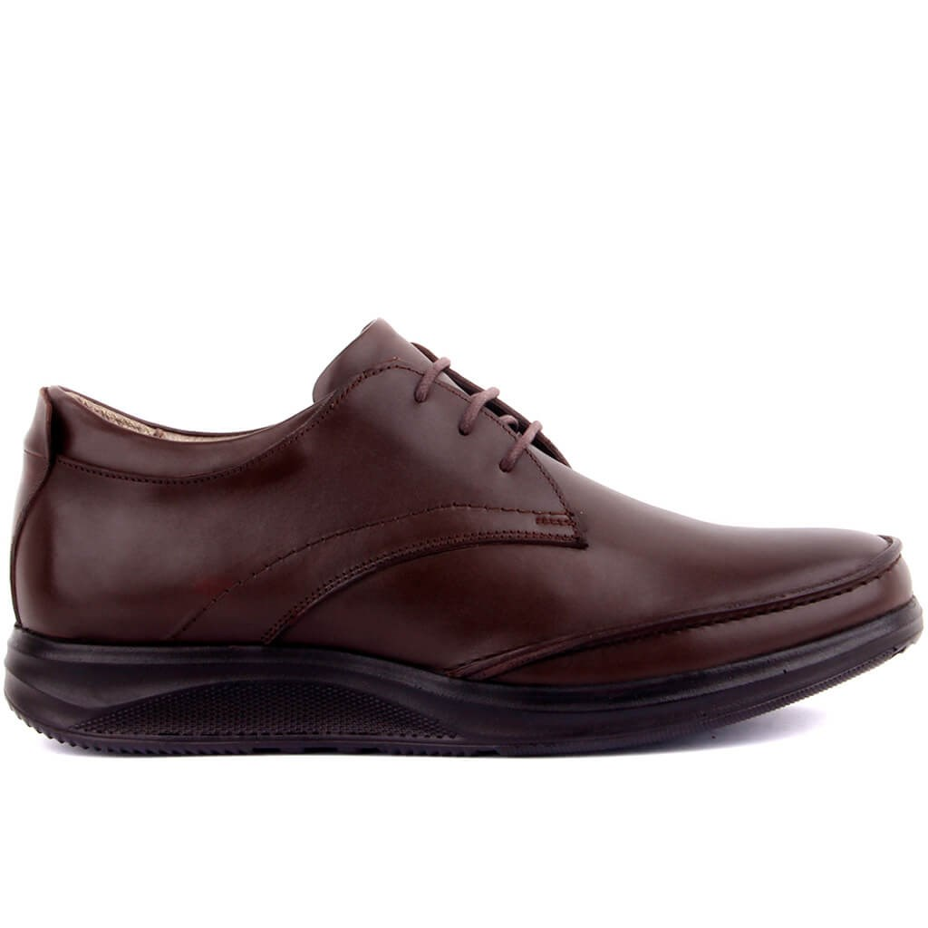Sail Lakers-Brown Leather Men 'S Casual Shoes