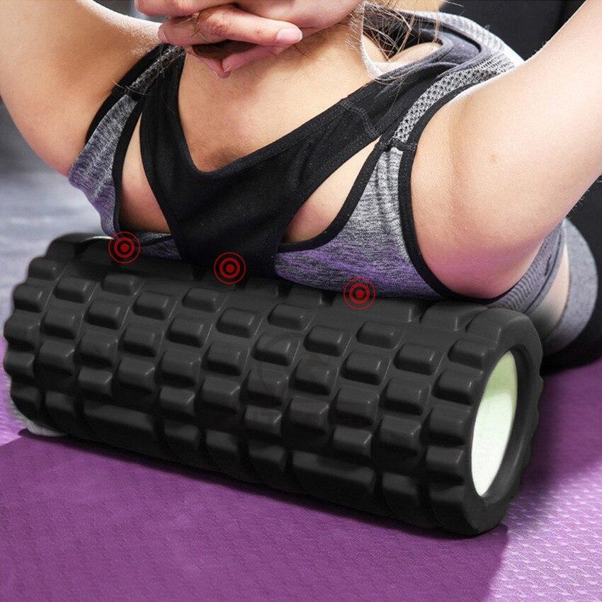 Outtobe Йога Колонка пены ролик ЕВА колеса фитнес-оборудование Пилатес массажный ролик для мышц палка для йоги (33x14 см) для спортзала йоги