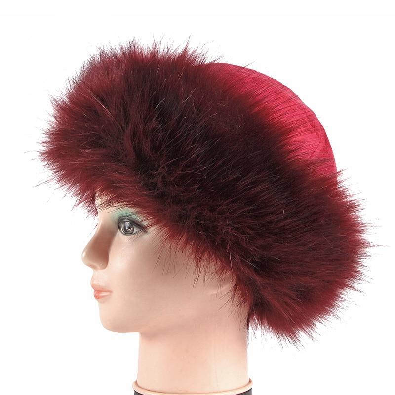 Russia Vintage Hip Hop Men Women Winter Warm Thickness Hat Cotton Retro Skull cap Brimless Hat Landlord Breathable Beanie Hat Go