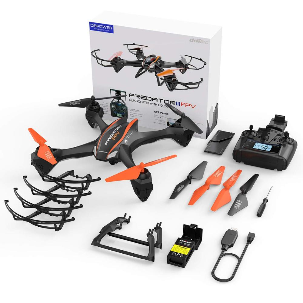 Image 5 - DBPOWER Predator U842 FPV Quadcopter Drone with HD Camera for Beginners and Kids, Big Size Black for Outdoor Use-in RC Airplanes from Toys & Hobbies