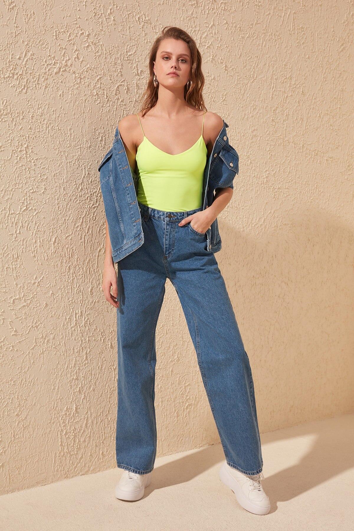 Trendyol High Bel Wide Leg Jeans TWOSS20JE0145