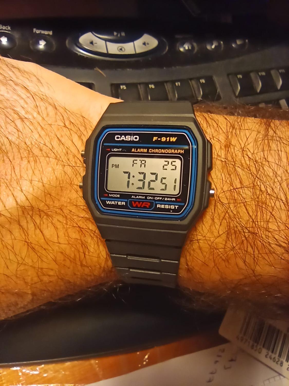 Orginal Casio F-91W-1DG  Digital Men Watch, Mens Watch, Soldier Watch, Water Resist, Free Shippping