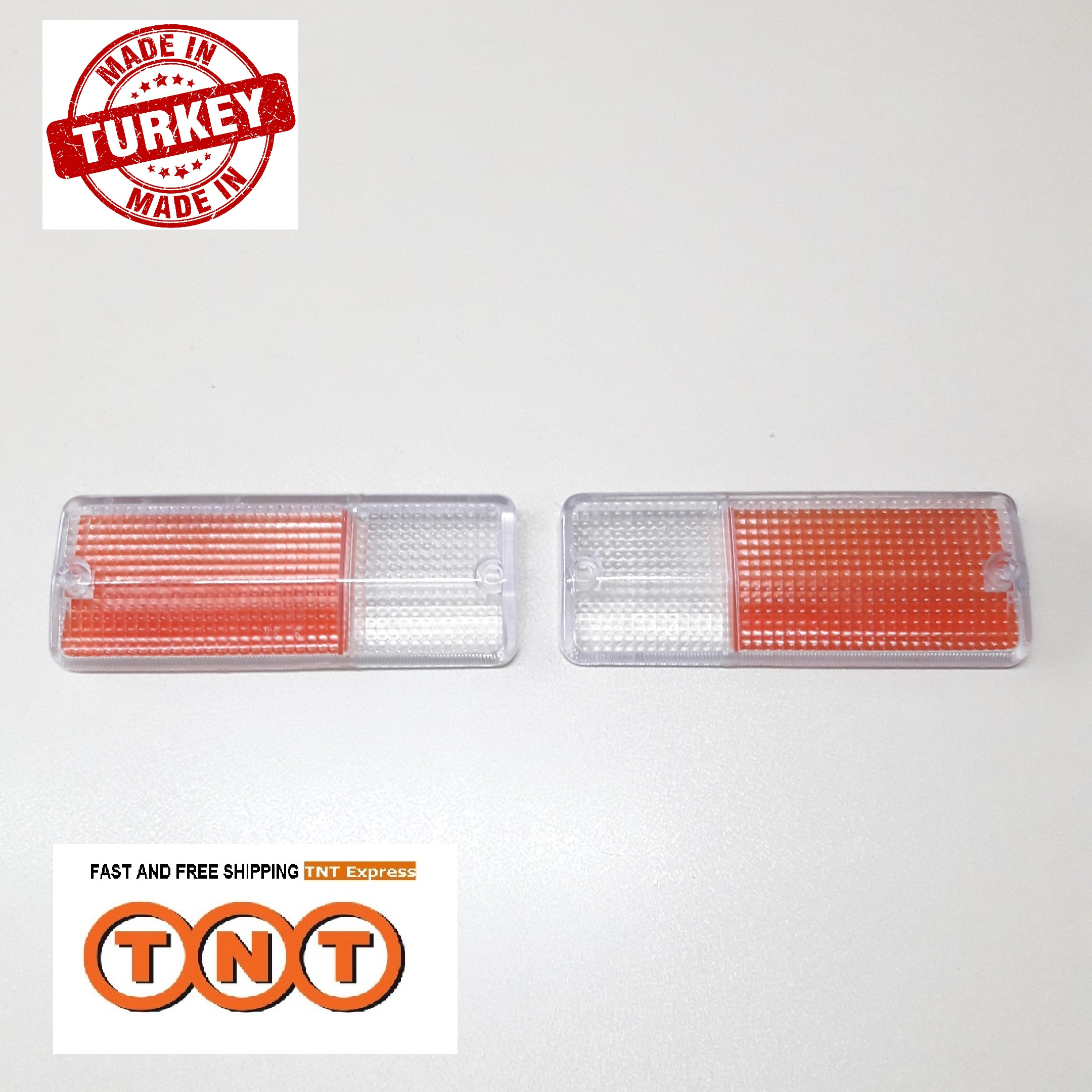 1 Pair Front Bumper Signal Lamp Glass Lens Left Right For Suzuki Sierra Samurai SJ410 SJ413 1986-1995 /Free TNT Express Shipping