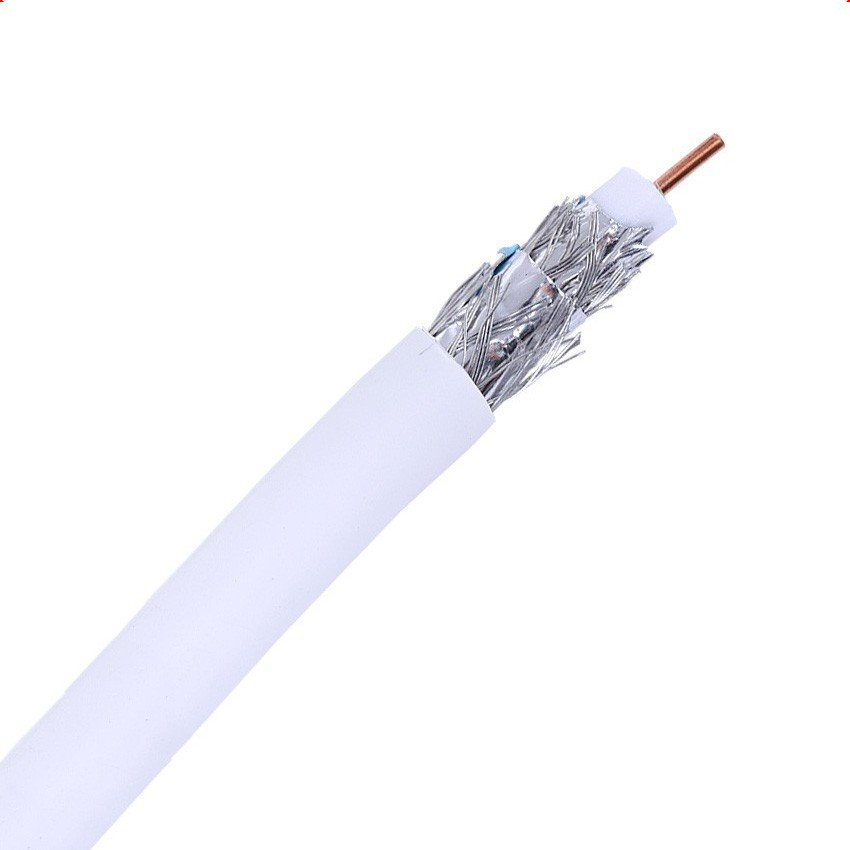 50m Coaxial Cable RG6 Copper-foil Back Antenna TV