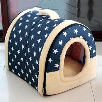 Portable Foldable Dog Puppy Cat House Kennel Nest Soft Bed With Mat For Small Medium Pet Comfortable Travel Tent 1