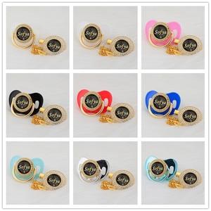 Image 4 - MIYOCAR אישית כל שם יכול להפוך זהב בלינג מוצץ שחור זהב ומוצץ קליפ BPA משלוח dummy בלינג ייחודי עיצוב p8