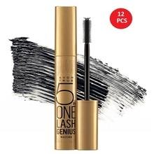 12 PCS 5 in 1 True Lash Genius Black Mascara Volumizing Eyelash Care Mascara Waterproof Eyelash Extension Long lasting
