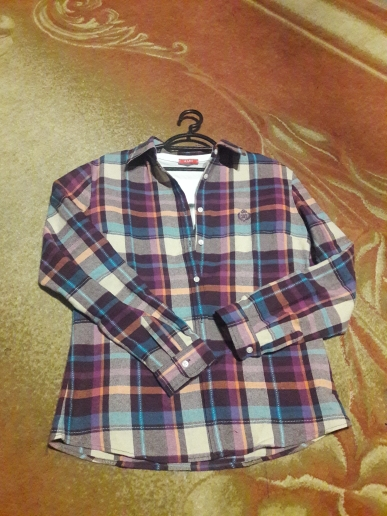 Autumn Winter New Women'S Flannel Plaid Shirt 100% Cotton Casual Style Blouses Long Sleeve Shirt Female Blusas Office Tops photo review