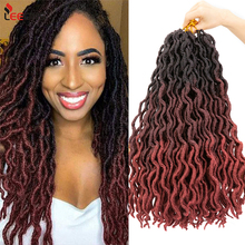 Leeons Nu Locs Goddess Faux Curly Crochet Braid African Style Dreadlocks Soft Synthetic  Braiding Hair Extensions Hairpiece Afro
