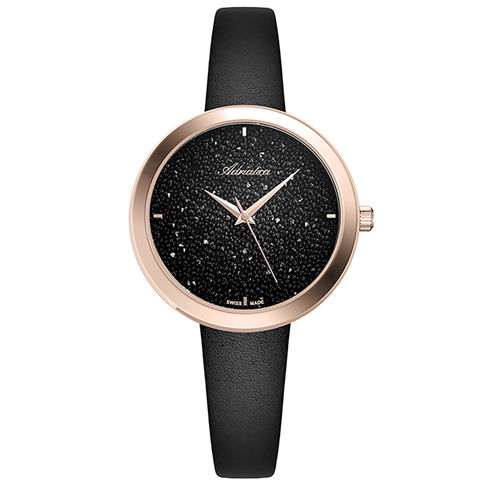 Women's Watches With Leather Strap With Mineral Glass Sunlight