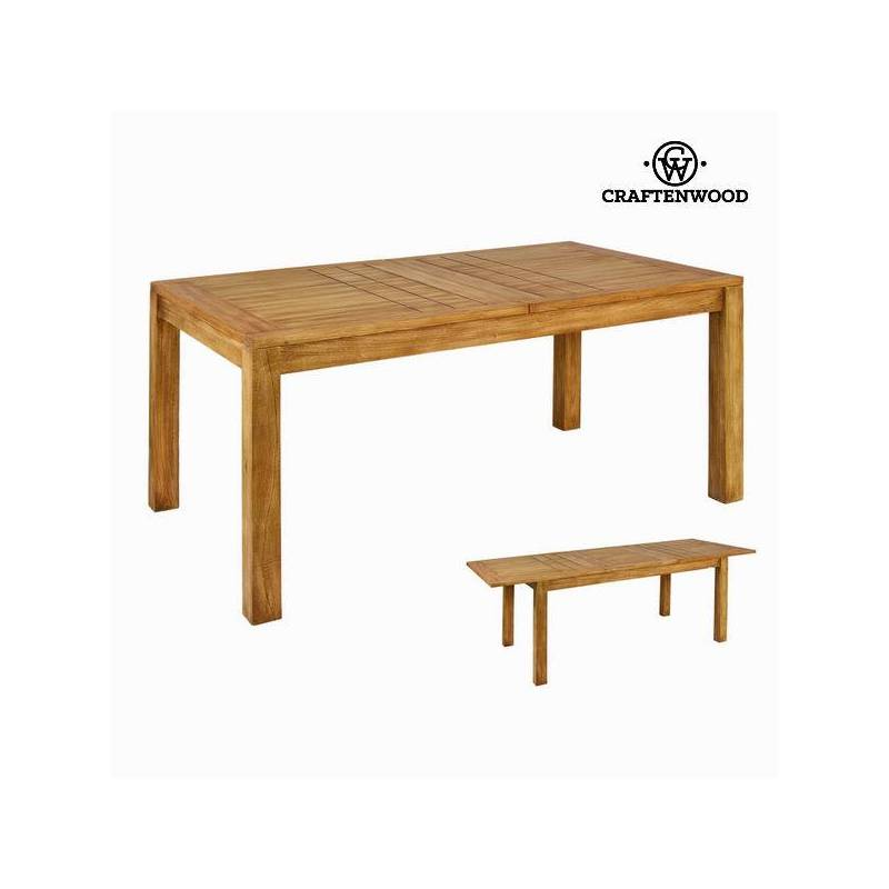 Extendable Table Wood Mindi (160x90x78 Cm)-The Collection Square By Craftenwood