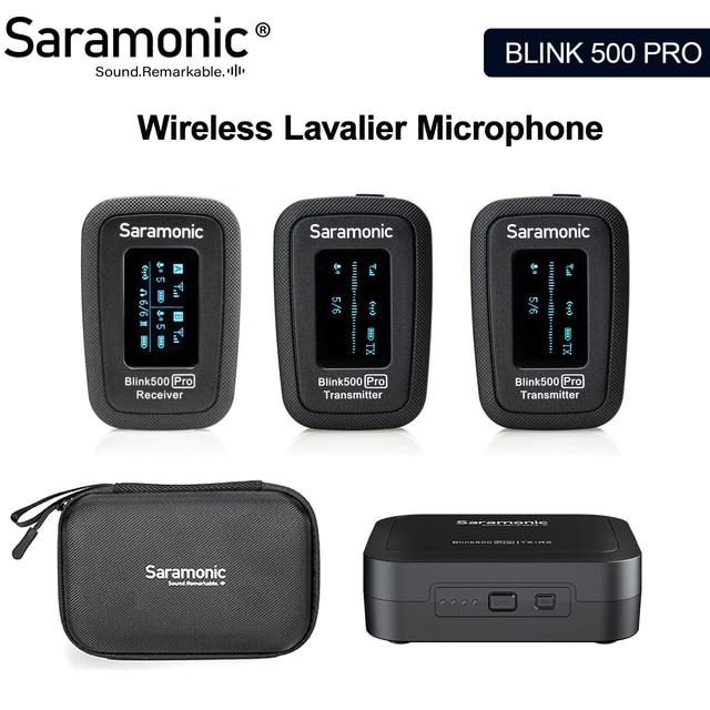 Saramonic Blink 500 Blink500 Pro B1 B2 2.4G Hz Dual Channe Wireless Lavalier Lapel Microphone for DSLR camera smartphones