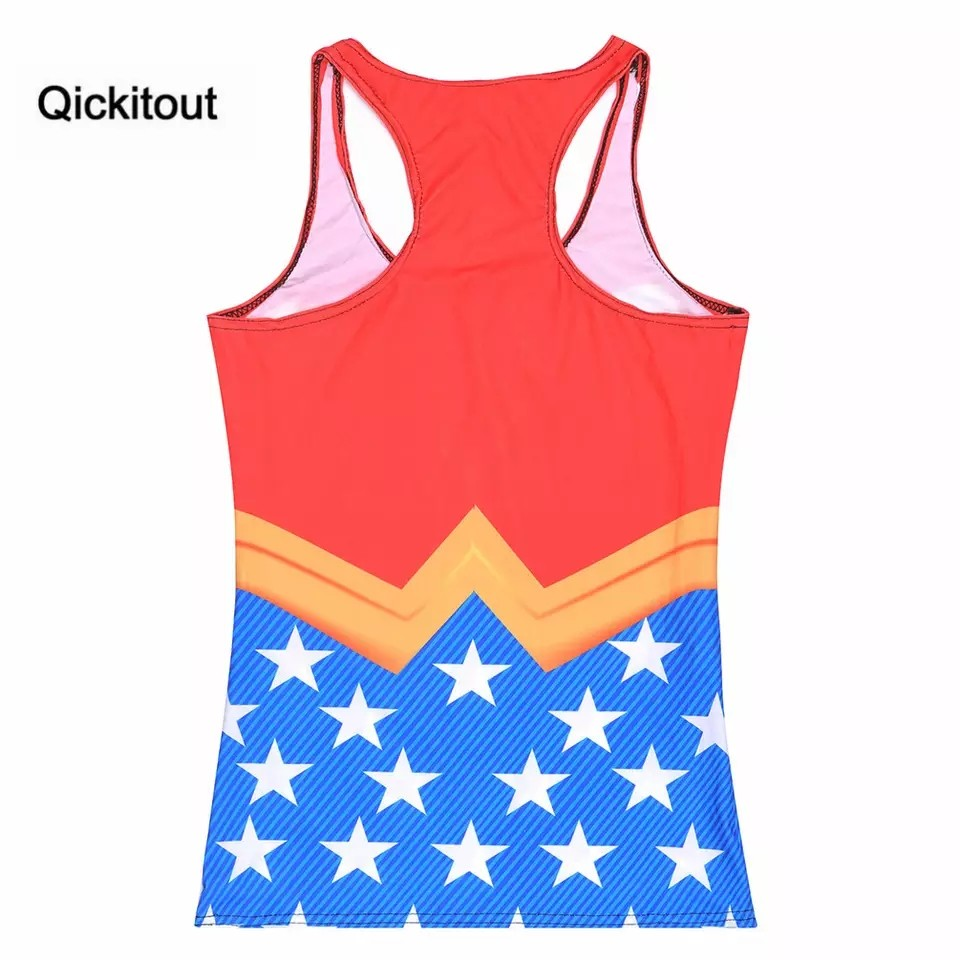 Drop Shipping Women Casual Fashion Summer Womens Sleeveless Digital Printing Tank Wonder Women Camisole|women camisole|printed tankcamisole women - AliExpress