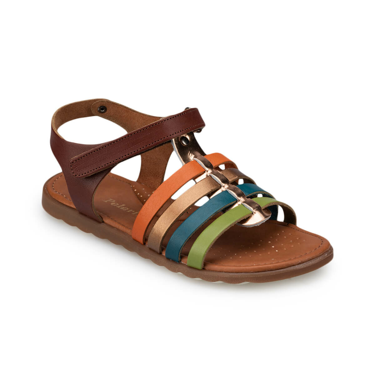 FLO 91.510032.F Brown Female Child Sandals Polaris