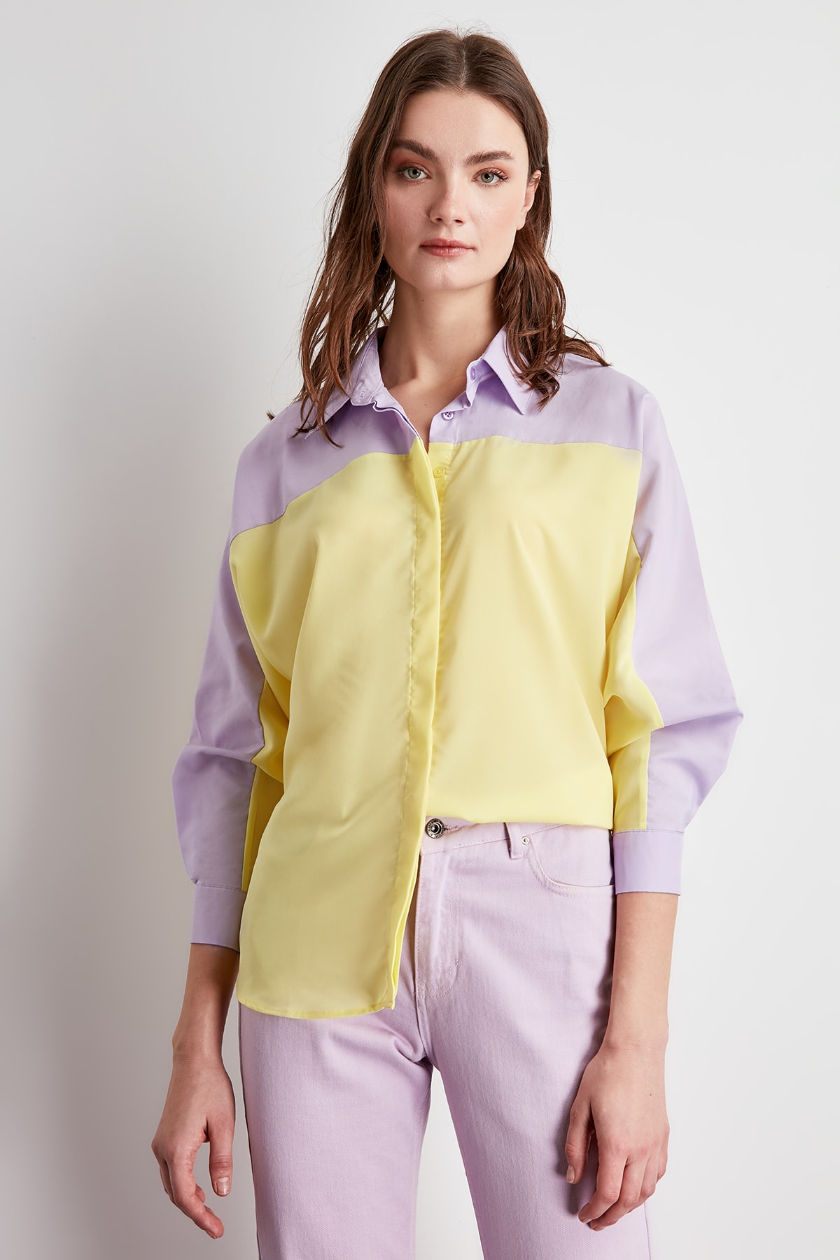 Trendyol With Color Block Shirt TWOSS20GO0010