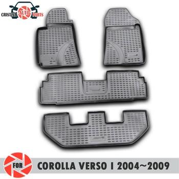 Tappetini per Toyota Corolla Verso I 2004 ~ 2009 tappeti antiscivolo poliuretano sporco di protezione interni car styling accessori