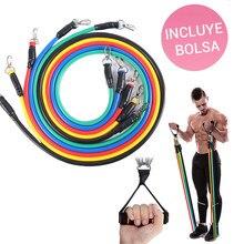 kit de 5 bandas elasticas fitness gomas elastica de resistencia gimnasio en casa crossfit gym equipo de fitness portátil