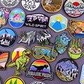 Нашивки с вышивкой «горные приключения», патчи для куртки парка Юрского периода, уличные нашивки для одежды с вышивкой, патчи для одежды с у...