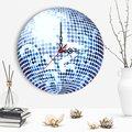 Декоративные диско шар дизайн деревянные настенные часы-1