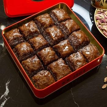 Tradycyjne świeże pyszne premium turecki baklawa z pistacją i czekoladą Najbardziej pyszny deser na świecie tanie i dobre opinie HAFIZ MUSTAFA TR (pochodzenie) Gotowanie pochodnie Narzędzia do deserów
