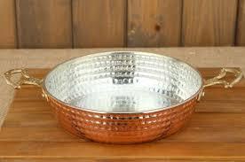Handmade Anatolian Ottoman Turkish Arabic Copper Pan