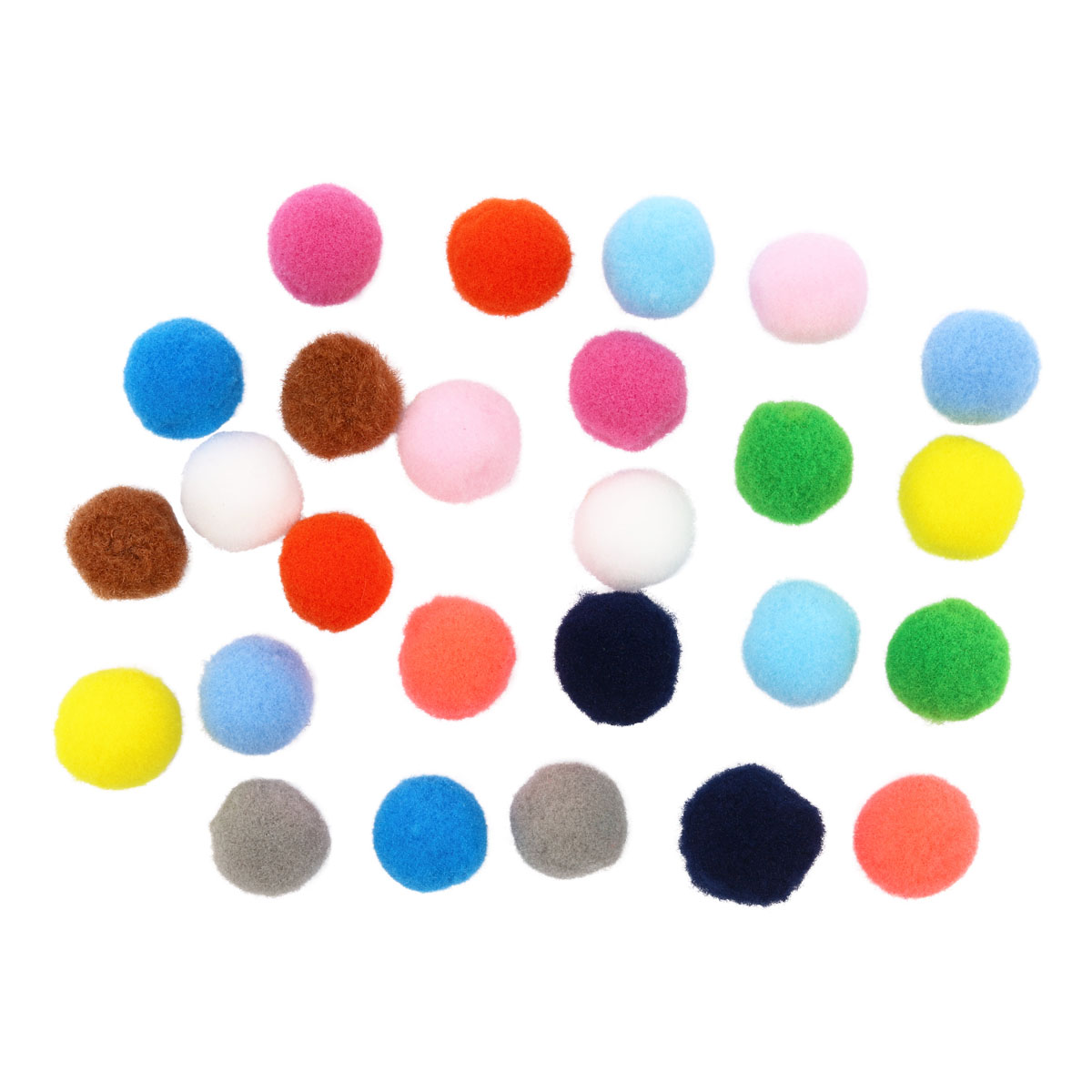 Pompoms Mix 15mm, 26 PCs.