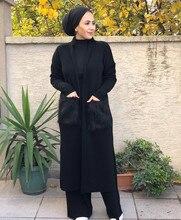 Müslüman Giyim Yelek Tunik Abaya 2021 Model Bayan Giyim Hırka 12 Renk