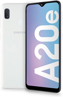 Phone Samsung Galaxy A20e, White Color, 3 GB RAM, 32 GB of Internal Memory dual SIM, 5.8