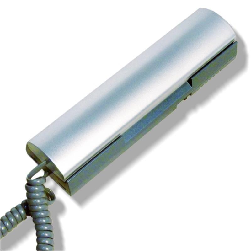 Трубка домофона CYFRAL КМ 2НО.М (Цифрал КМ 2НО.М) для координатных подъездных домофонов. Отключение вызова. Серый/синий металлик Домофон      АлиЭкспресс