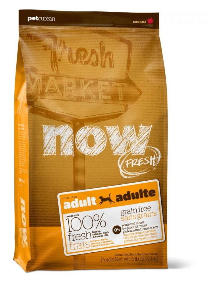 Now Fresh беззерновой Adult Dogs With индейкой, Duck And Vegetables, Turkey And Duck, 11,35 Kg