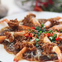 花式蒜蓉粉丝蒸虾的做法图解12