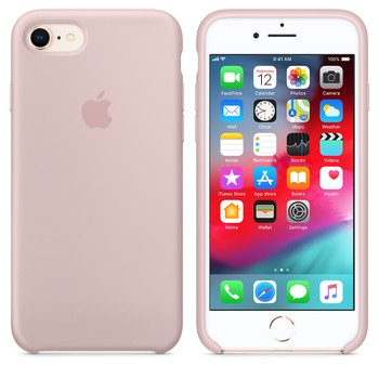 Apple iPhone 6-6S Original Slim Silicon Rubber Case Back Cover-Light Pink