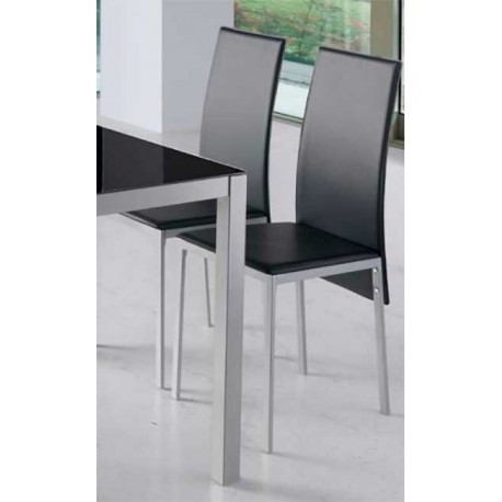 Pack 4 Chairs Lyon For Living Room In White Or Black