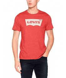 T-SHIRT LEVIS HOUSEMARK GRAPHIC TEE T Red color fashion short sleeve BRANDED for men Clothing male