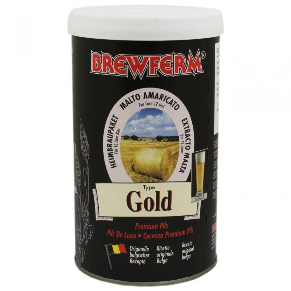 Beer Concentrate Brewferm GOLD Belgian Malt Extract Beer, Homemade Beer