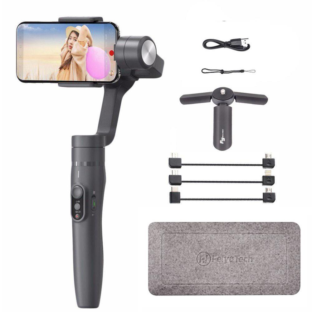 Feiyu Vimble 2 Selfie bâton voyage cardan stabilisateur de poche pour iPhone X 8 Plus 7 6 Samsung S9 + S9 S8 + S8 vs Zhiyun lisse 4