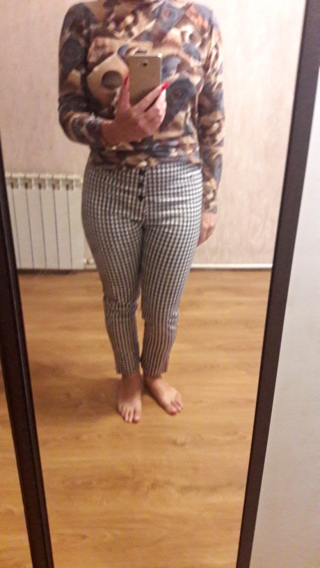 Vintage Button High Waist Plaid Pants Summer Office Lady Workwear Trousers Women Elegant Side Zipper Pencil Pants photo review