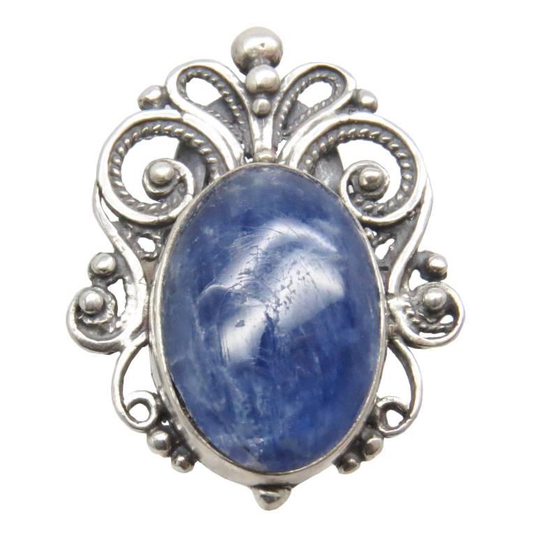 Серебряное Кольцо Кианит синий натуральный Серебро 925 Ag проба перстень самоцветы Россия 79 Хорошие Вещи