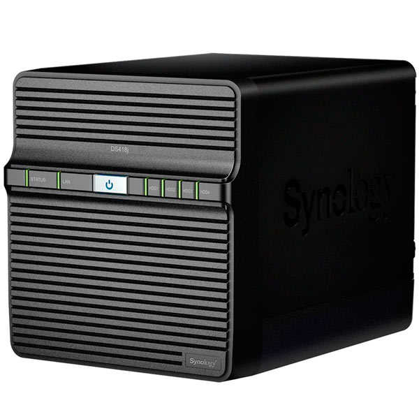 Synology NAS Server Disk Station Ds418j 4 Bahias 1,4 GHz RAID 0,1, 5,6, 10 ISCSI-VIDEOSPEICHER-ARRAY