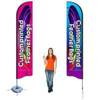 beach flag feather Flag custom print banner complete set advertising promotion trade show any logo company club sport using
