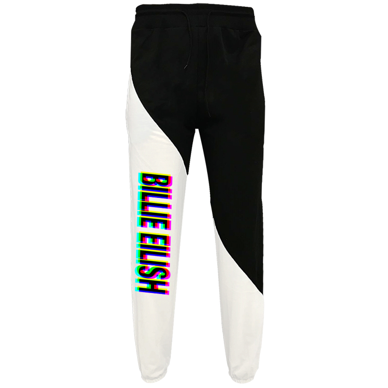 Men Women Cool Billie Eilish Letter Printed Drawstring Trousers Personality Loose Sweatpants Casual Elastic Waist Pants