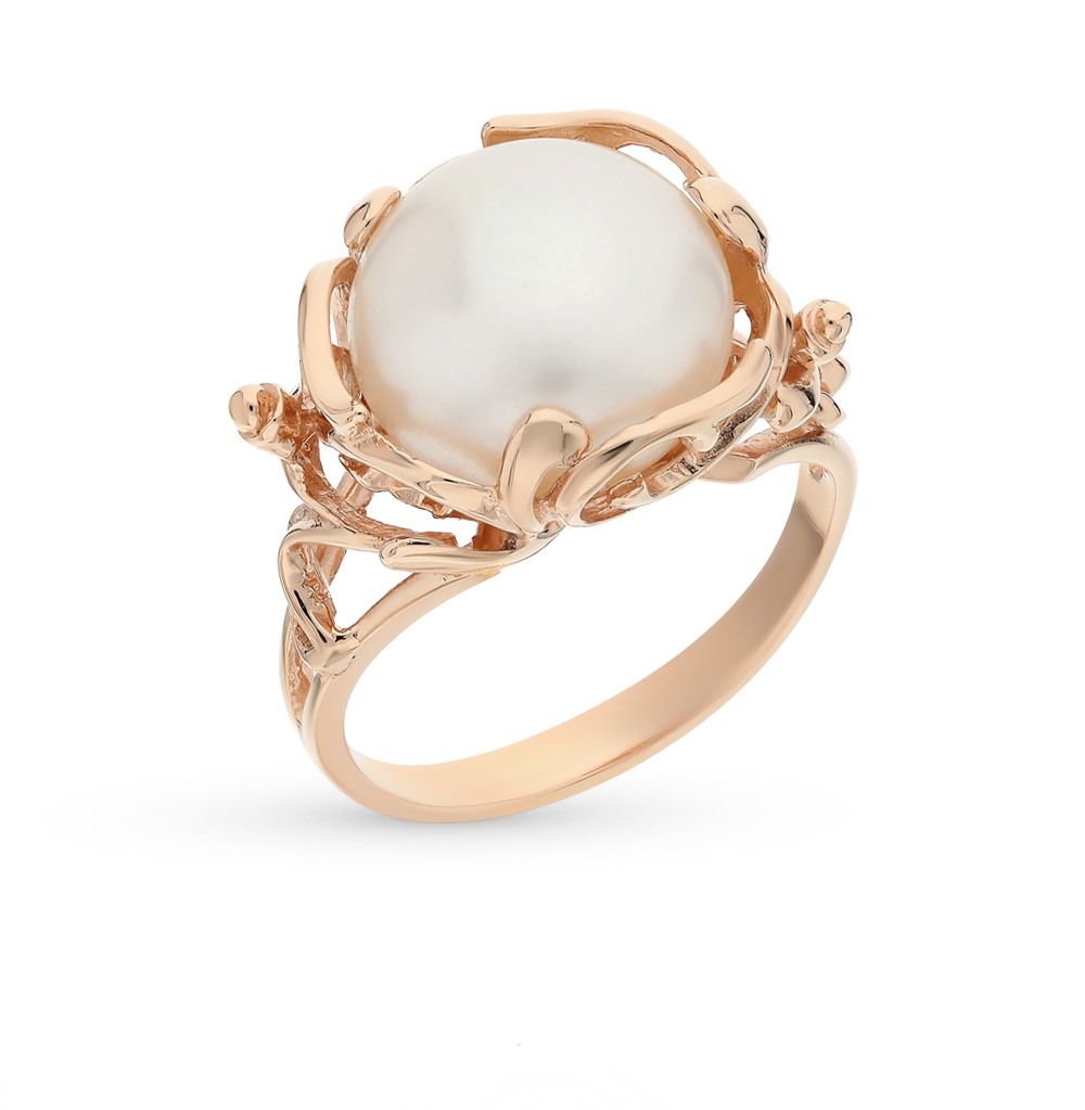 Gold Ring With Pearls Sunlight Sample 585