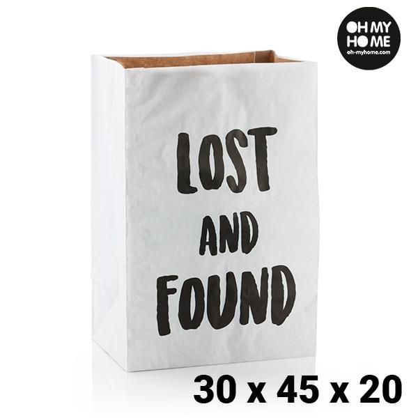 Ev ve Bahçe'ten Katlanabilir Depolama Çantaları'de Oh benim ev orta boy kağıt torba (30x45x20 cm) title=