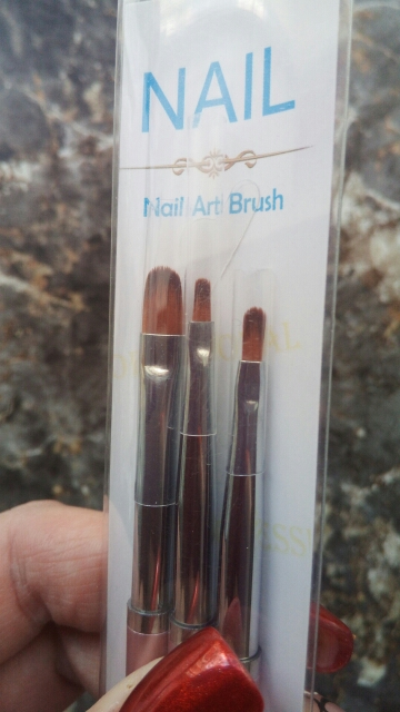 3 Size Nail Art Gold Round Top Painting Brush Set Gel Polish Tips Extending Coating 3D Petal Flower DIY Drawing Shaping Pens Kit reviews №2 39851