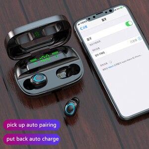 Сенсорное управление Bluetooth 5,0 наушники беспроводные наушники 9D стерео гарнитура 3500 мАч зарядный чехол светодиодный дисплей подходит для вс...