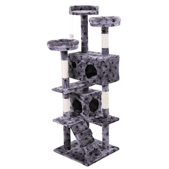 Pet Cat Tree Toy Condo Cat Climbing Tower Multi-layer With Hammock Cat House Furniture Scratching Solid Wood Post for Cat 1