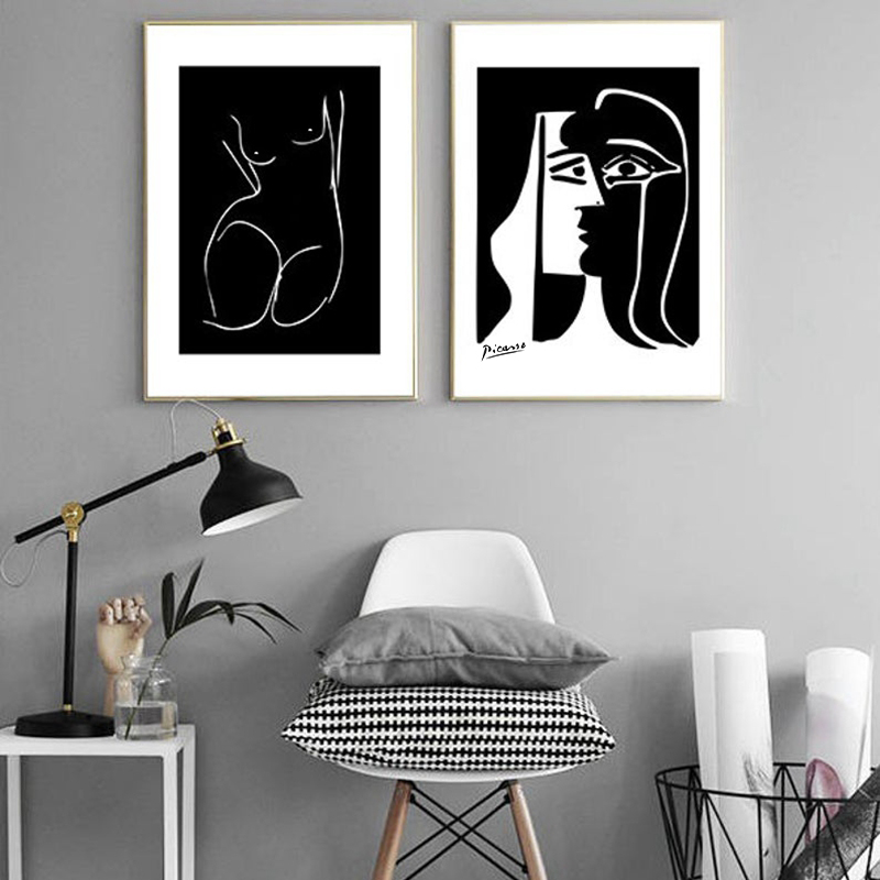 Picasso Kiss Poster Matisse Abstract Woman Art Home Decor