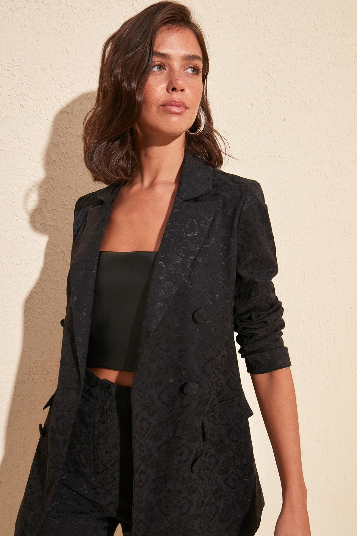 Trendyol Blazer Jacquard Jacket TWOSS20CE0120