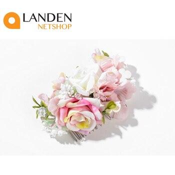 Peina de pelo con flores para mujer, peinado invitación de boda, tocada dama de honor