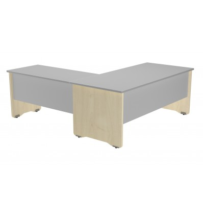 WING FOR OFFICE TABLE SERIALS WORK 100x60 BEECH/GRAY (PRICE JUST FOR THE WING, THE MAIN TABLE IS PURCHASED SEPARATELY)